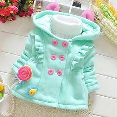 Куртки, кофты из Китая :: 2016 девушка с Корейской девушки мягкий пальто кардиган для осень/зима Луны Детская одежда Детская одежда 0-1-2-3.