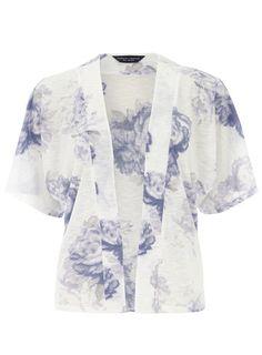 Ivory Floral Printed Kimono DP