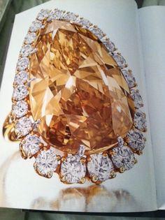 Cognac Diamond Ring, formerly belonging to Elizabeth Taylor