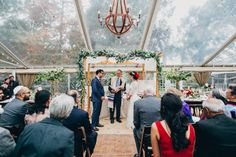Stunning wedding ceremony decor for outdoor wedding under clear tent | My Wedding: Saturday Part 2 via @hushedcommotion