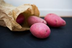 Red potatoes are moist, firm and flavorful – perfect for summer grilling or colorful potato salads. Potato Types, Types Of Potatoes, Potato Dishes, Potato Salad, Grilling, Salads, Good Things, Colorful, Apple
