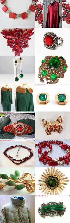 Christmas Red and Green Teamlove  Vintage Treasures by cindy cooley on Etsy--Pinned with TreasuryPin.com