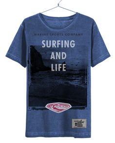 Camiseta/T-shirt Surfing and Life