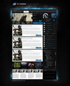 [webSPELL] ST Gaming CLANDesign - Templates - ClanDesigns