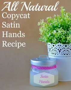 All Natural Copycat Satin Hands Recipe. You'll have super soft hands after using this scrub.