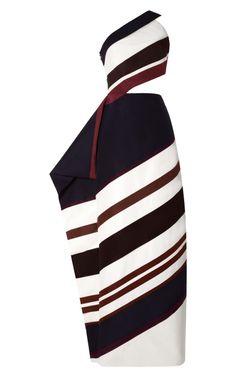Shop Ultrafine Silk Faille One Shoulder Cutout Gown by Rosie Assoulin for Preorder on Moda Operandi