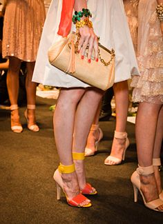 Spring 2012 Shoes: Blugirl's Tri-Color Sandals