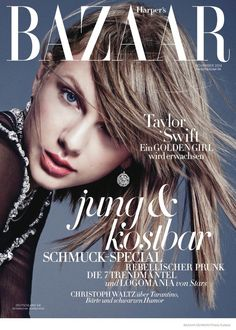 "Taylor for Bazaar Germany--Continuing her promo tour for her new album ""1989"", Taylor Swift lands the November cover story from Harper's Bazaar Germany. Th"
