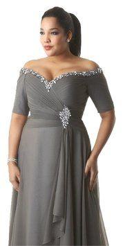 Handmade Platinum Silver Ruched Dress