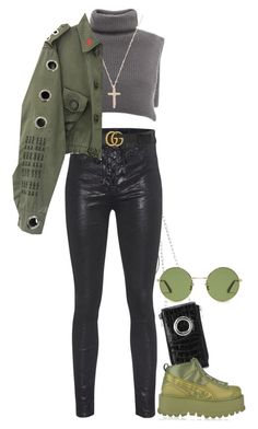 """""""579"""" by dkleaa ❤ liked on Polyvore featuring Alexander Wang, rag & bone, Gucci, Puma and Yves Saint Laurent"""