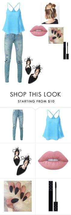 """""""change ur life by little mix"""" by crazibunniz on Polyvore featuring Yves Saint Laurent, Lime Crime and Gucci"""