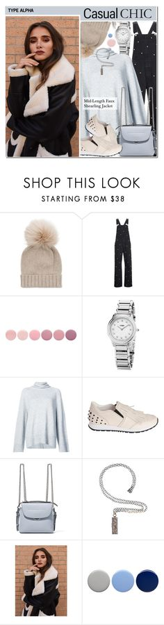 """Mid-Length Faux Shearling Jacket - Casual Chic"" by typealpha ❤ liked on Polyvore featuring Inverni, Tu Es Mon Trésor, Deborah Lippmann, Fendi, The Row, Tod's, Annie Fensterstock and Burberry"