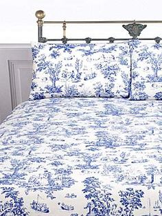 House of Fraser blue toile