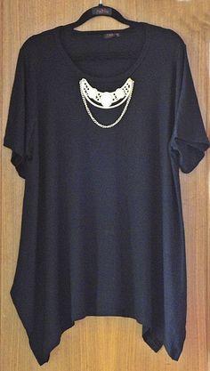 Blusa Plus Size Colar
