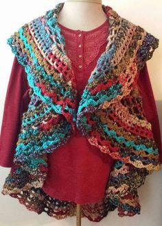 PDF Crochet Pattern for Bohemian Circle Vest Pattern ONLY by Shelleden on Etsy Written pattern, no charts.