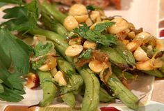 Roasted Green Beans with Shallots and Hazelnuts from FoodNetwork.com  READY in 20min!!!!!!