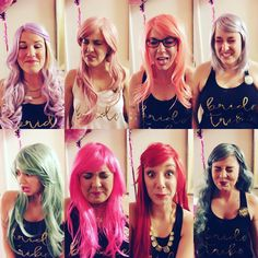 Take a shot and take a picture of the facial reaction! ❤️ bachelorette party wigs