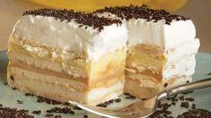 Czech Recipes, Croatian Recipes, Hungarian Recipes, Tart Recipes, Sweet Recipes, Dessert Recipes, Mousse, Shortbread Cake, Posne Torte