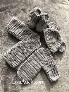Free Crochet Pattern for a Newborn Baby Cardigan Crochet Baby Sweater Cardigan FREE Pattern Megan's Easy Crochet Baby Cardigan Free Pattern. This is an EASY Crochet Cardigan Pattern f. Crochet Baby Cardigan Free Pattern, Newborn Crochet Patterns, Crochet Baby Sweaters, Baby Sweater Patterns, Crochet Baby Clothes, Crochet Baby Stuff, Crochet For Baby, Knitting Patterns, Free Baby Patterns
