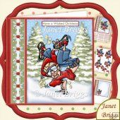 Hip Hop Dancer Have a Wicked Christmas 7.5 Decoupage Kit