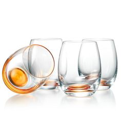Like jewels for the table, stemless glasses with a golden base add glitz to cocktails, juice or water. Regularly $19.99, shop Avon Living online at http://eseagren.avonrepresentative.com