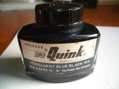 The Quink Ink , formulated by a Filipino chemist Francisco Quisumbing was a prominent fixture on my father's desk during my growing up years; I also used it for my Chinese writing exercises during my elementary grades; its indelible ink also left indelible beautiful memories in my heart... Chinese Writing, Writing Exercises, Those Were The Days, Chemist, Whiskey Bottle, Perfume Bottles, Ink, Manila