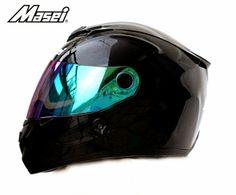 Masei 848 Black Motorcycle DOT & ECE ARAI SHOEI Helmet S M L XL Free Shipping Worldwide - US$119 including shipping fee worldwide.