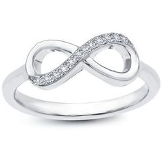 Infinity Classic Ring ($100) ❤ liked on Polyvore featuring jewelry, rings, accessories, bijoux, infinity ring and infinity jewelry