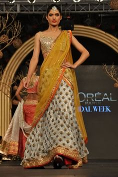 Beautiful Lehenga by Elan https://www.facebook.com/elanonline Pakistan at PFDC L'Oreal Paris Bridal Week 2013