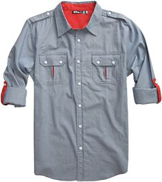 intrepid shirt the ryde red contrast details Casual Shirts For Men, Men Casual, Mens Designer Shirts, Kurta Designs, Boys Shirts, Shirt Style, Shirt Designs, Womens Surf Brands, Menswear