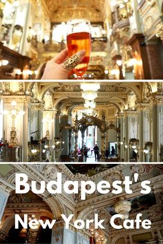 A glimpse inside the 'Most Beautiful Cafe in the World. It's a must if you visit Budapest! See more pictures on While I'm Young travel blog.  Cafes and coffee shops   Famous restaurants   luxury   Europe travel   What to do in Budapest   Fine dining in Budapest