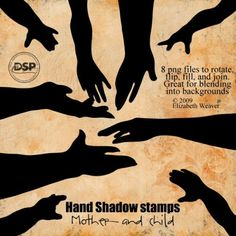 Hand Shadows Stamps - Mother and Child