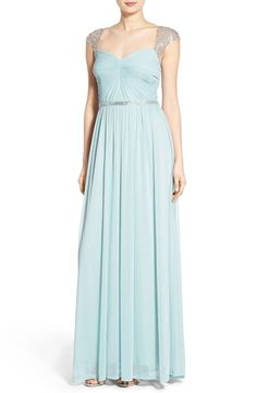 NWT $278 Adrianna Papell Embellished Ruched Jersey SOLD OUT Gown  | SZ 4 | A026 #AdriannaPapell #Maxi #Cocktail