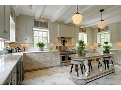 From the painted floors to every other last detail- Perfection! Kitchen Flooring, Kitchen Dining, Kitchen Redo, Kitchen Ideas, Kitchen White, Open Kitchen, Kitchen Stuff, Kitchen Island, Charleston Homes