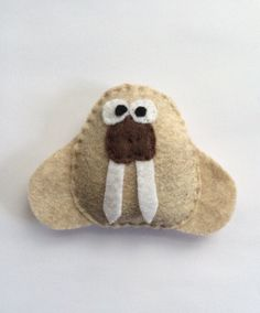 Felt Walrus Catnip Cat Toy Animal Handmade by VTcatniptoys on Etsy