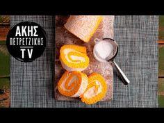 Κορμός Λεμονιού με Τυρί Κρέμα   Άκης Πετρετζίκης - YouTube Grapefruit, Beverages, Favorite Recipes, Sweets, Youtube, Cakes, Food, Kitchen, Cooking