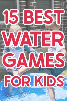 Whether you're looking for water games for kids or water games for adults, this list will have something to help you beat the heat this summer! Water ballon games, games to play in the sprinklers, and even one of the most water bottle flip games you'll ever play! Simply try one or ten of these fun water games on a hot summer day for guaranteed cool down fun! Water Ballon Games, Water Games For Kids, Games For Toddlers, Games For Teens, Kids Party Games, Summer Activities For Kids, Children Activities, Water Balloons, Backyard Water Games