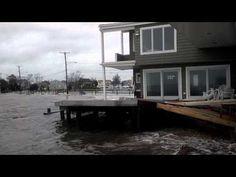 Hurricane Sandy - Zullo Shore house, Bayville NJ - YouTube