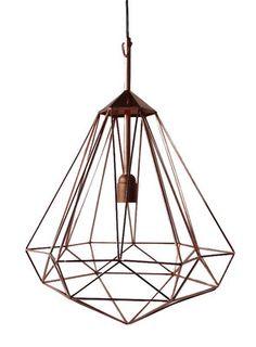 Suspension Diamant M / H 55 cm Cuivre / Medium - H 55 cm - Pols Potten - Décoration et mobilier design avec Made in Design