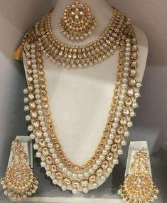 Wedding Jewelry Sets, Bridal Jewelry, Gold Jewelry, Bollywood Jewelry, Fashion Jewelry Necklaces, Fashion Necklace, Swarovski Crystal Necklace, Necklace Designs, Necklace Lengths