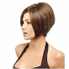 Angled bob haircut, very similiar to my hairstyle =) Graduated Bob Haircuts, Angled Bob Haircuts, Choppy Bob Hairstyles, Modern Haircuts, Wig Hairstyles, Short Hair Cuts, Short Hair Styles, Popular Short Hairstyles, Popular Haircuts