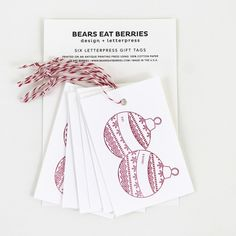 These gift tags are beautiful - definitely going to use them on all of my holiday gifts this year! $6, www.mooreaseal.com