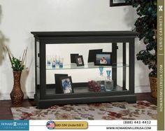 Curio Cabinets :: 680594 Howard Miller Black Finish Curio Console Cabinet -