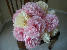 DIY Paper Flower Poofs   The Budget Savvy Bride
