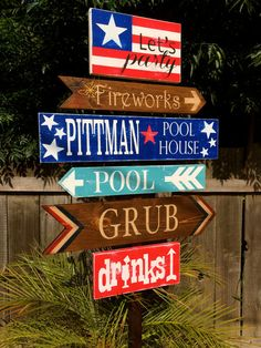 Directional Party Signs Wedding Decor Yard Stake by OneCoopedChick, $30.00