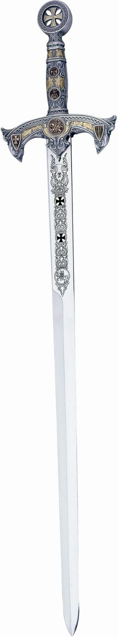 # 584.1 Silver Deluxe Templar Knights Sword by Marto of Spain