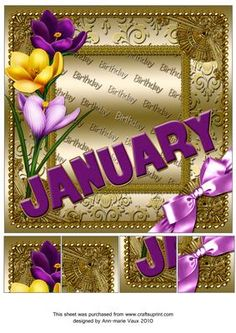 January Crocus Birthday 8in Picture Sheet - CUP169348_10 | Craftsuprint