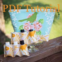 This listing is for an essential oil bag PDF PATTERN only, NOT a finished product.    This listing is for a PDF Pattern $8.50 and Tutorial that