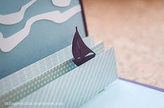 Sail Away popup card | littlegreenbox.wordpress.com