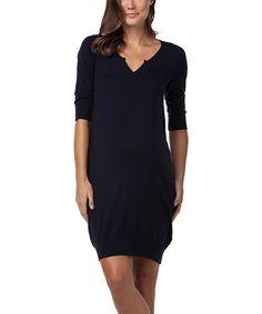 Navy Pippa Maternity Dress
